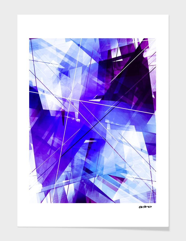 Indigo Chaos - Geometric Abstract Art