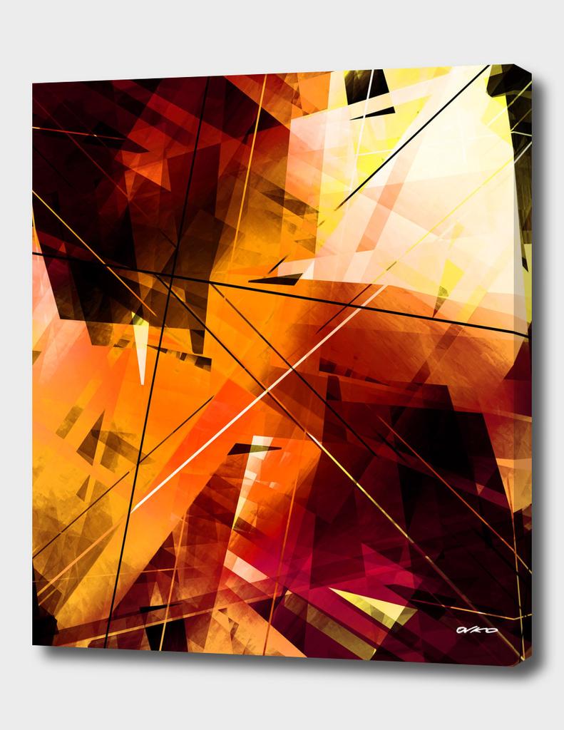 Shards of Sun - Geometric Abstract Art