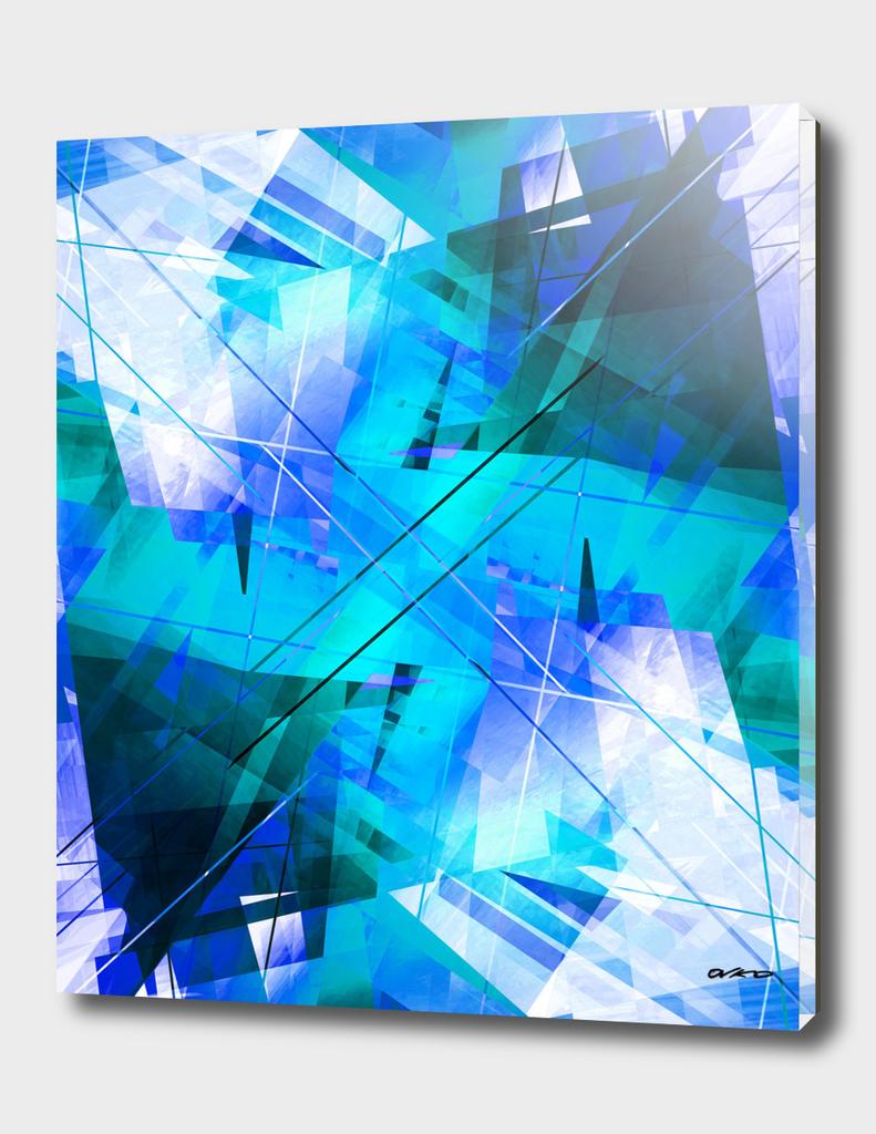 Vaporwave - Geometric Abstract Art