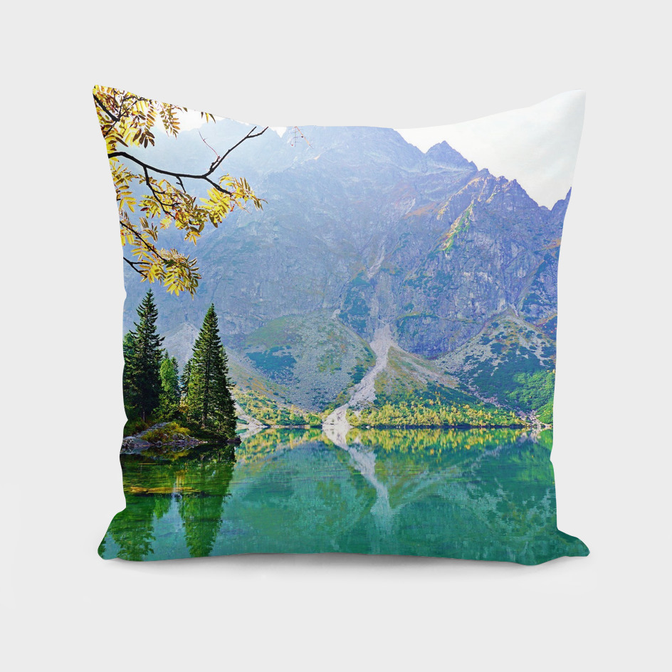 Colorful Mountain Lake