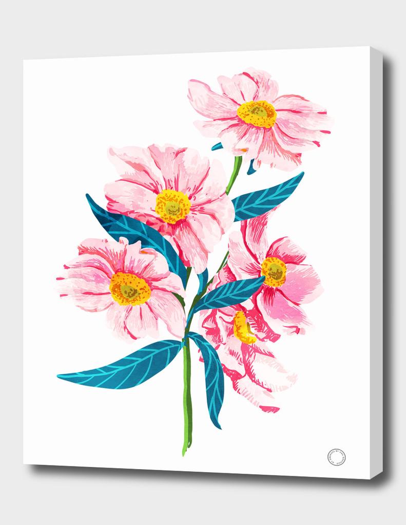 pink-floral-v2-art-print