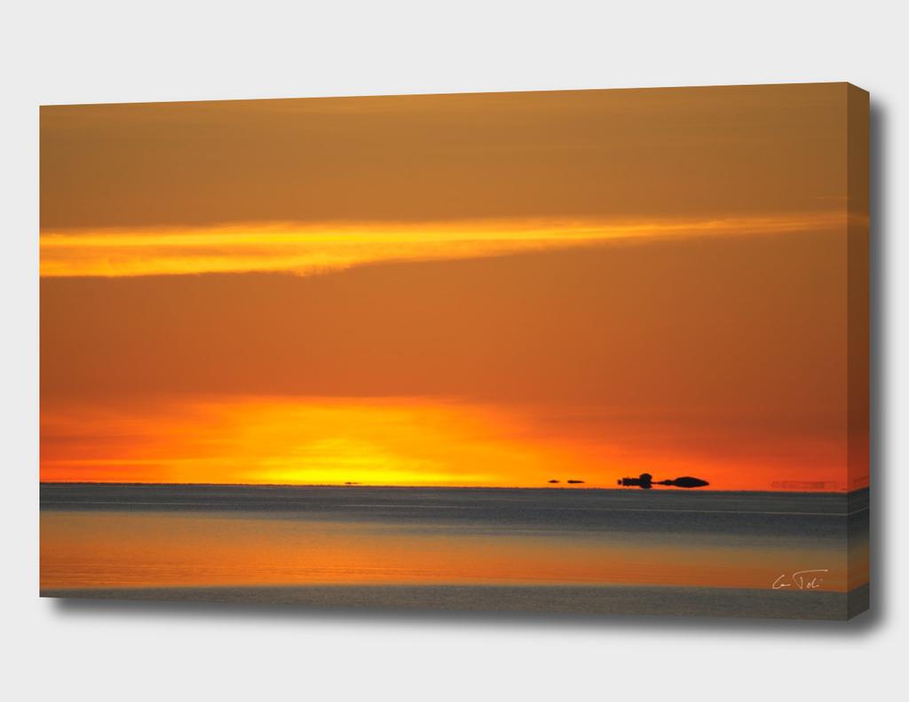 Sunset on Smøla Island