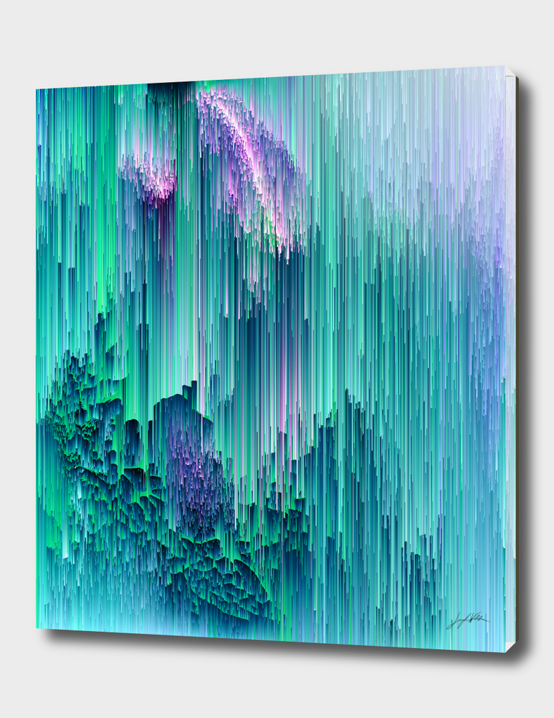 Emerald City - Glitch Abstract Pixel Art