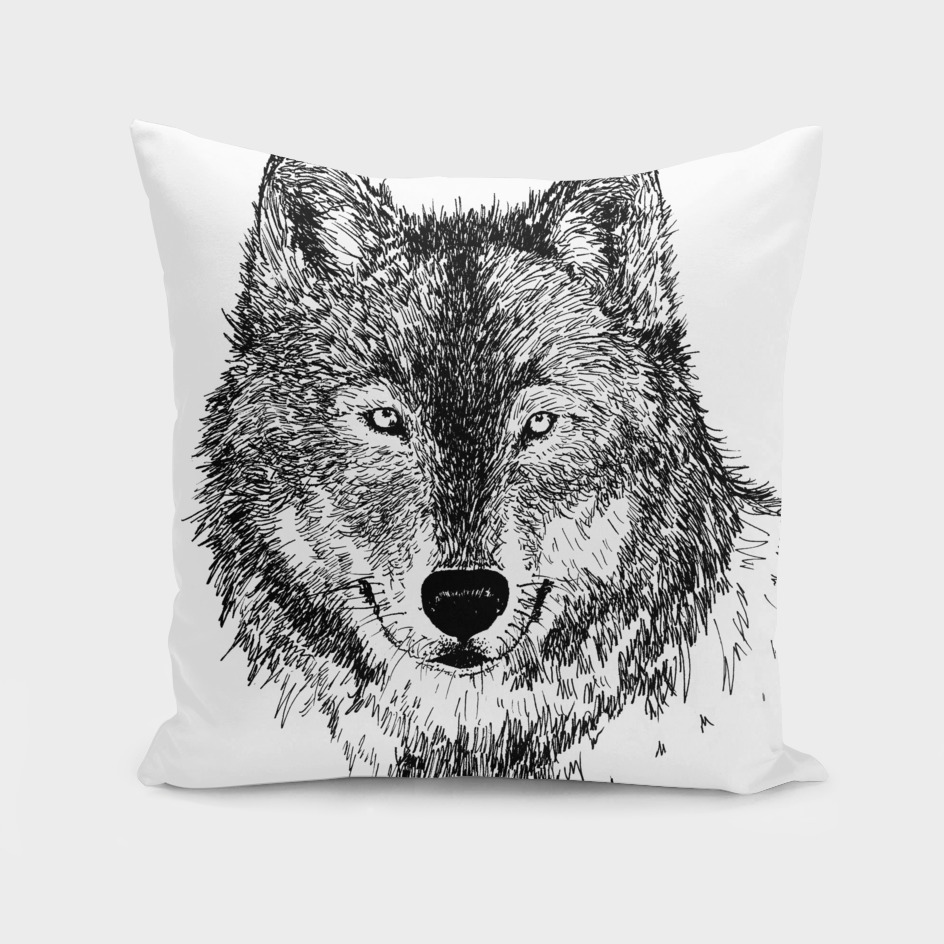 Wolf (Black and White)