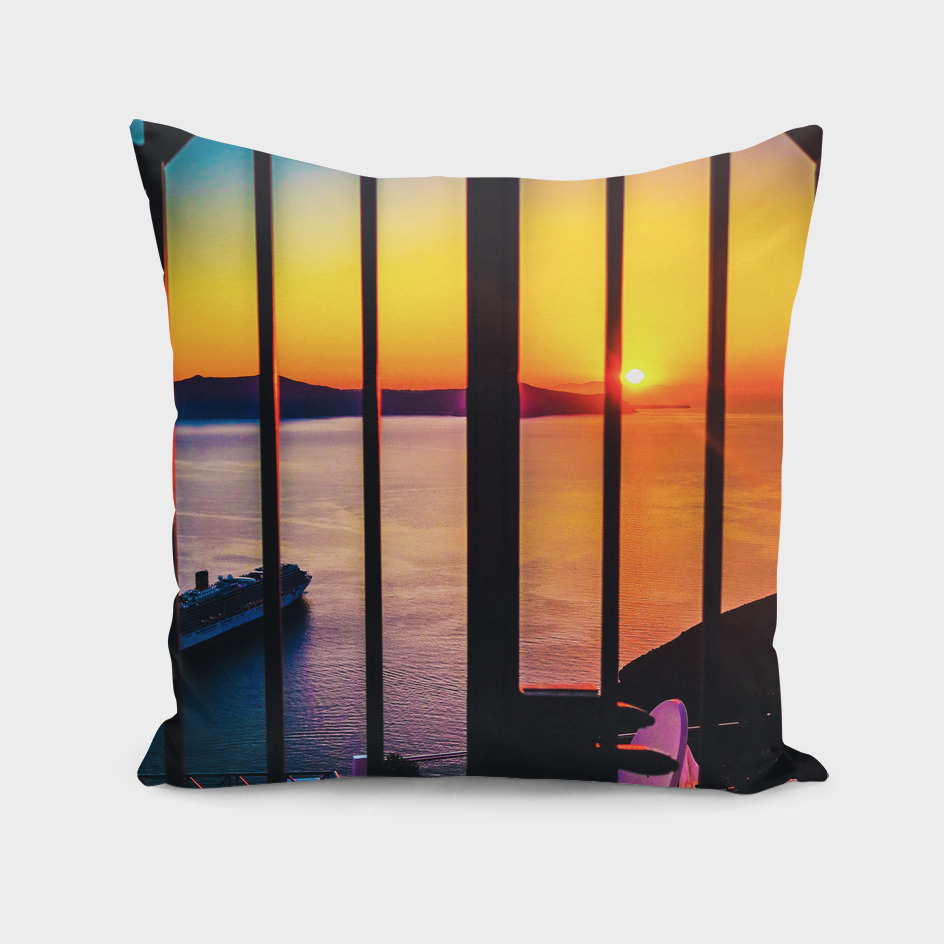 sunset in santorini mc