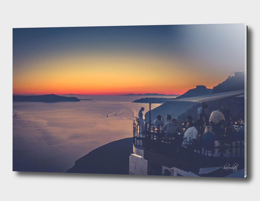 santorini sunset op