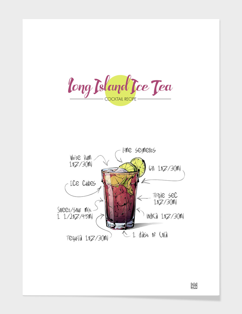 Long Island Ice Tea cocktail recipe