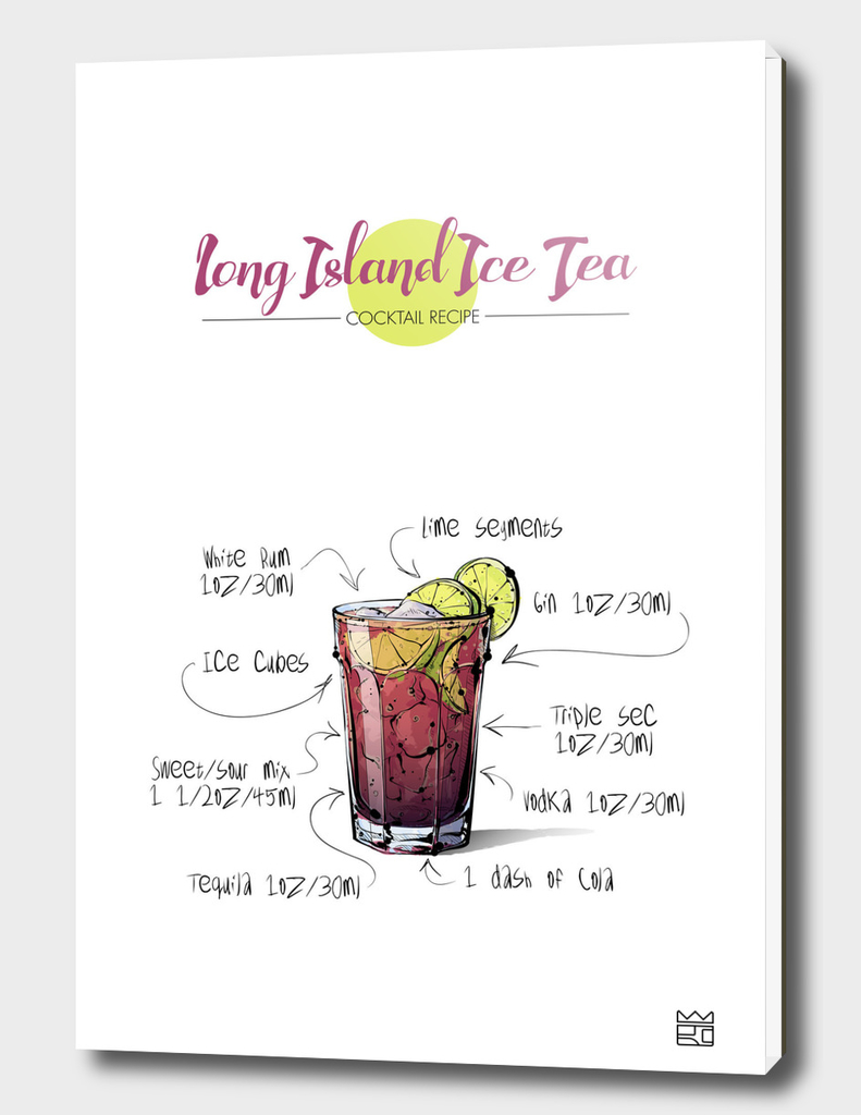 Long Island Ice Tea cocktail recipe