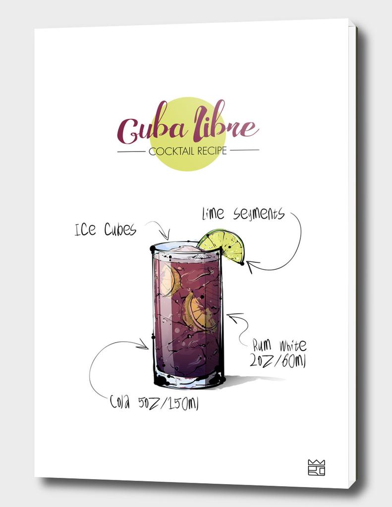 Cuba Libre cocktail recipe