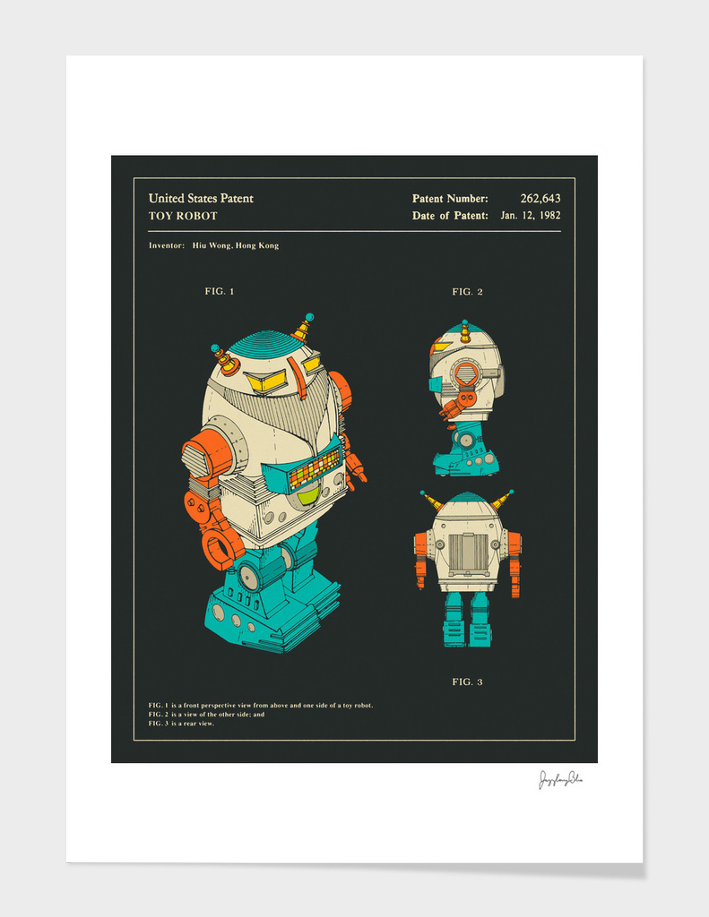 Toy Robot Patent (1982)