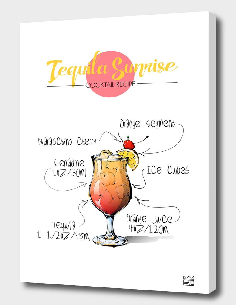 Tequila Sunrise cocktail recipe