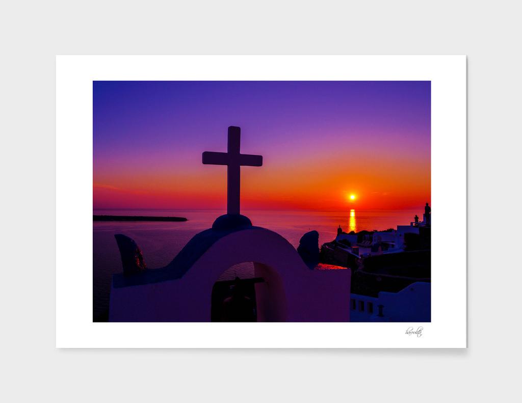 Sunset in santorini p