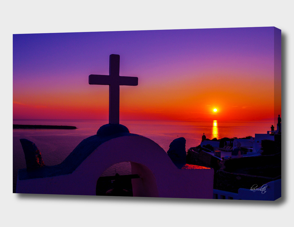 Sunset in santorini p
