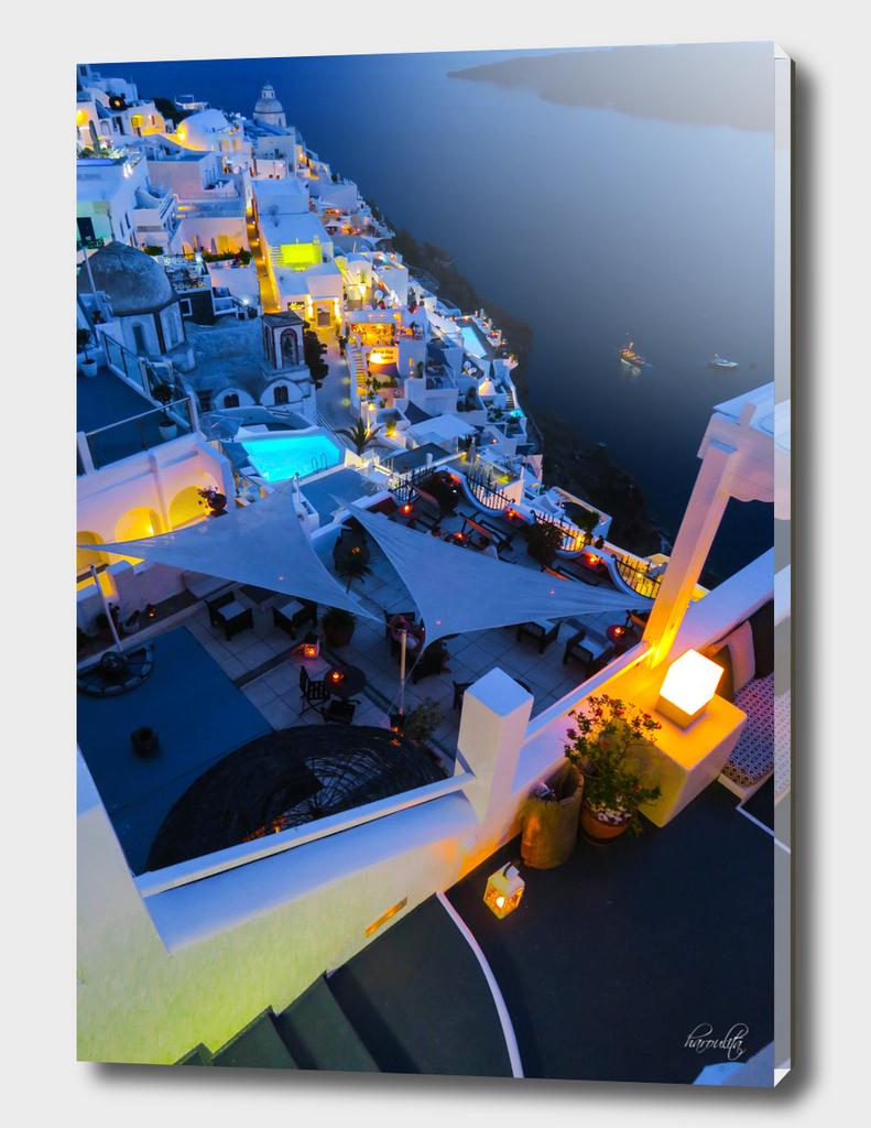 Night in Santorini