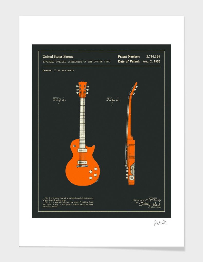 Guitar Patent 1955 (black)