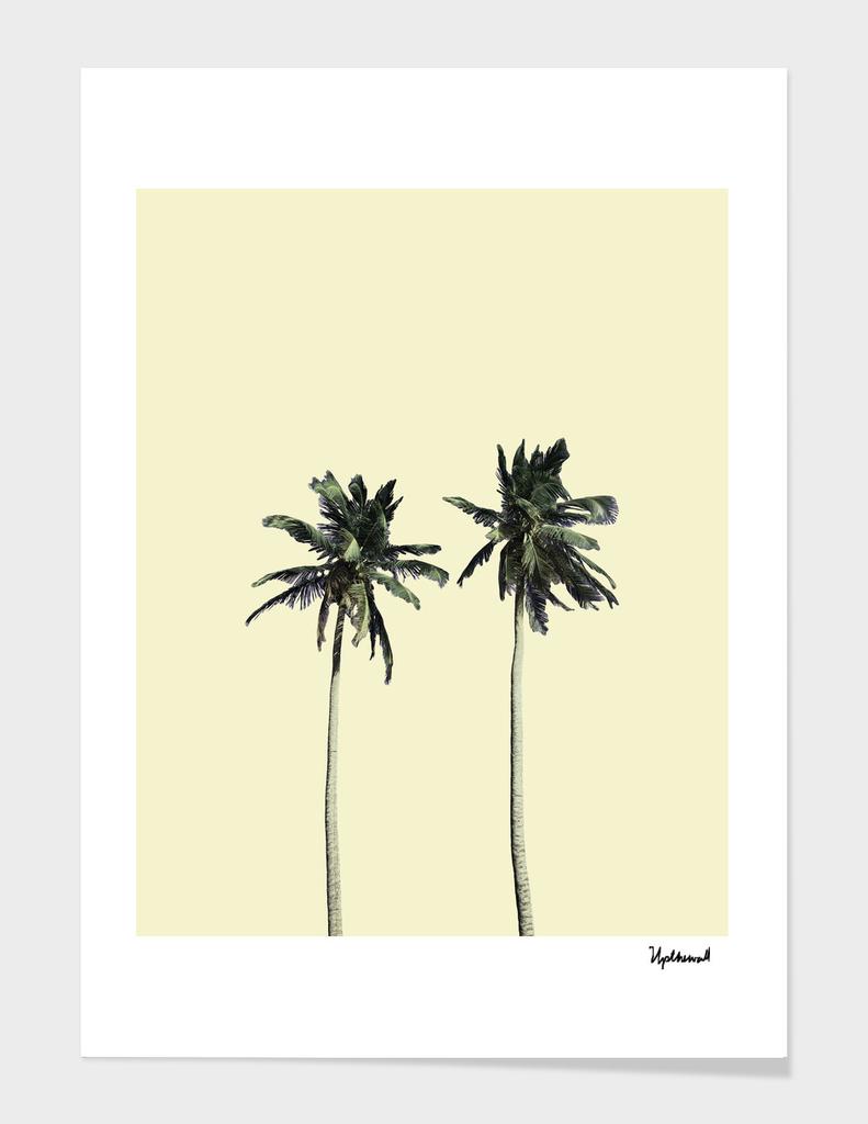 Twin palms (soft beige)