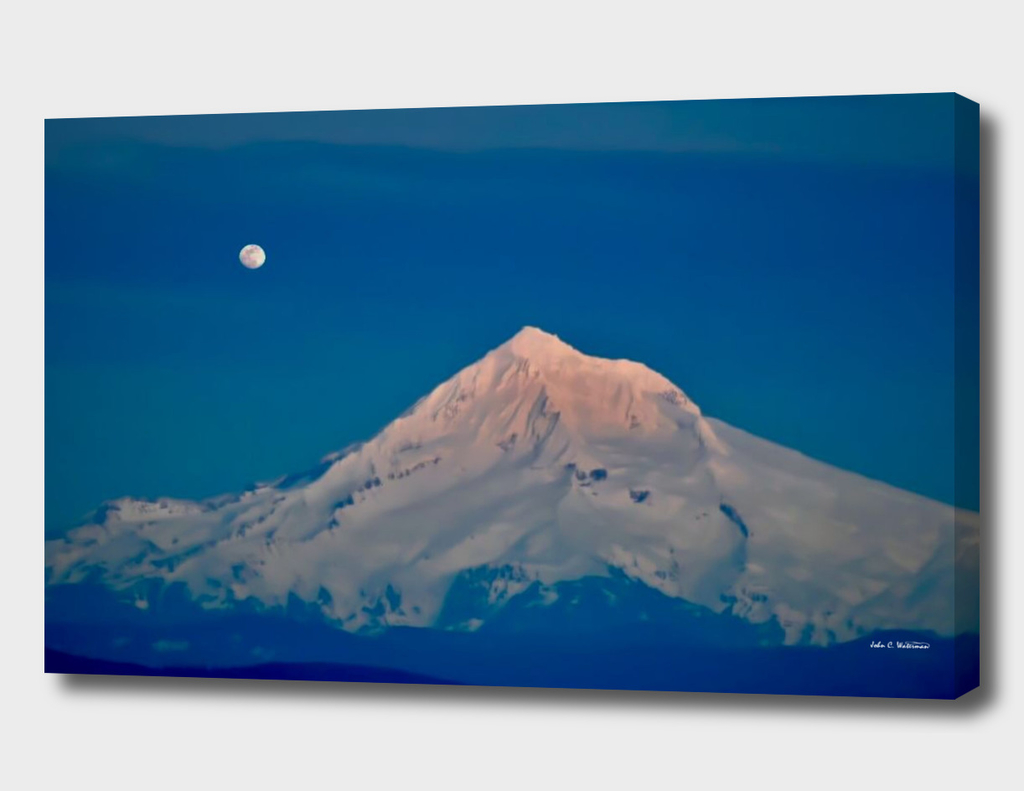 Mt. Hood and Moon