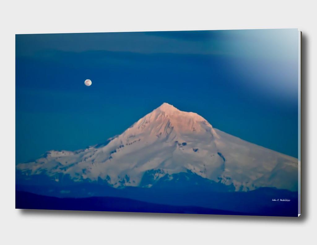 Mt. Hood and Moon