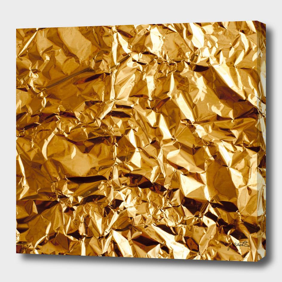 Crumpled Golden Foil