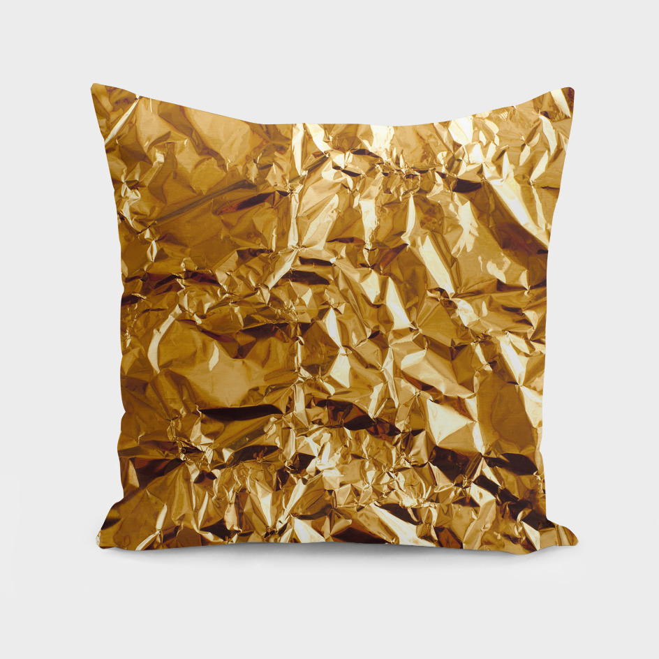 Crumpled Golden Foil
