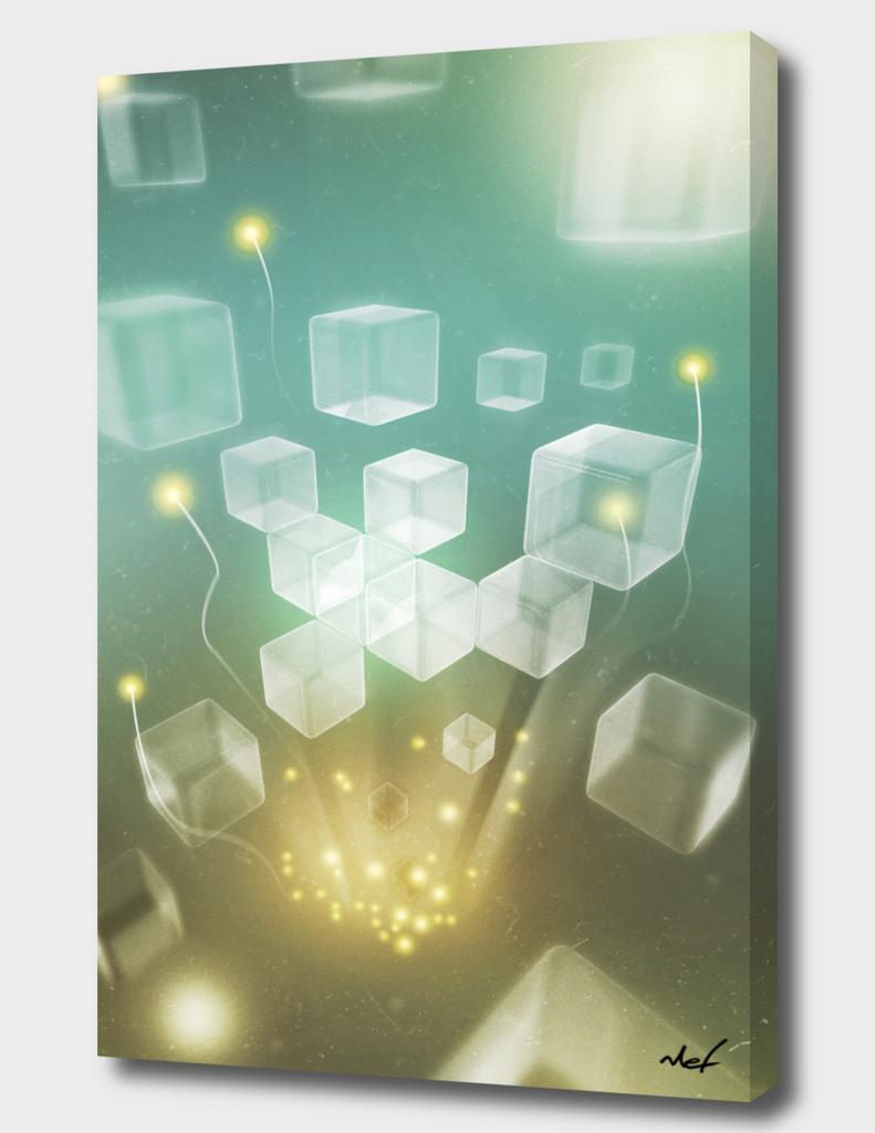 Cubes Aqua