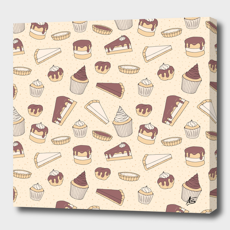 Chocolate Pastry Pattern