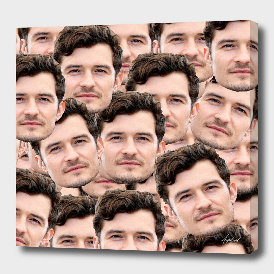ALL OVER Orlando Bloom Funny Design Star Celebryty