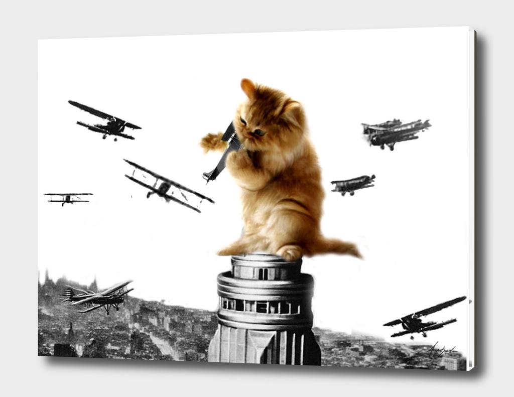Classic King Kong Scene Cat Kitty Attac