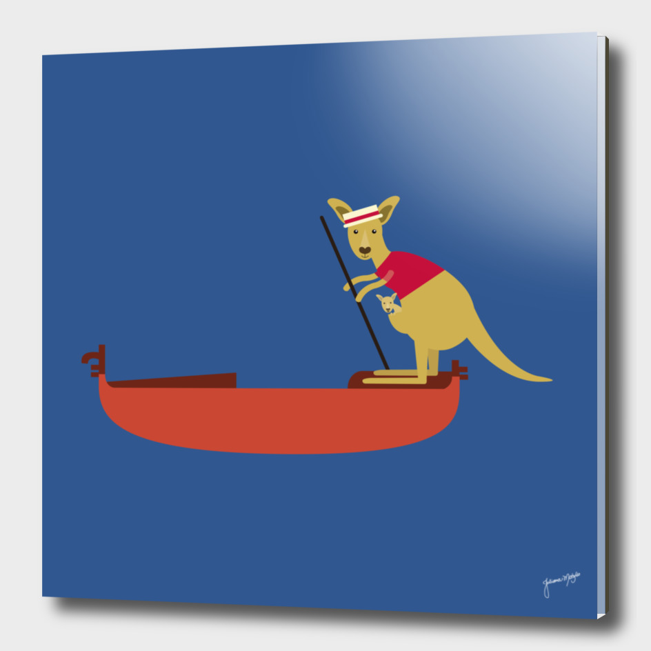 Kangaroo on Gondola
