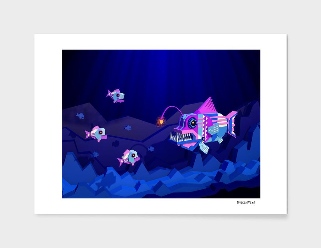 Anglerfish, lie and bioluminescence