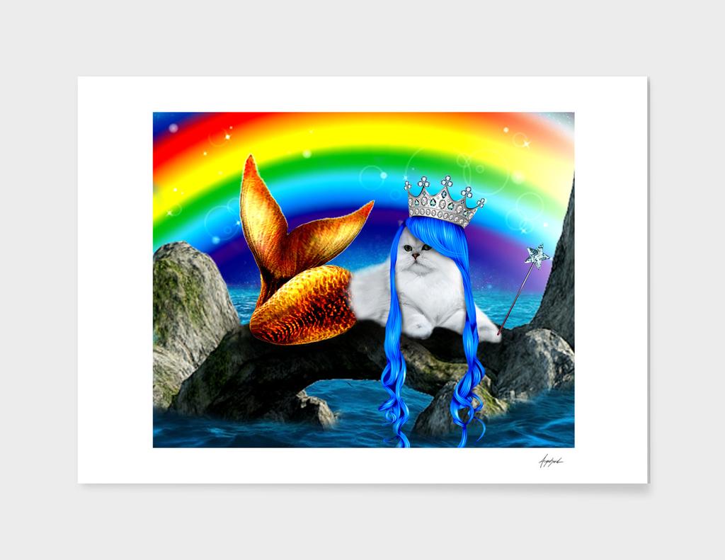 Mermaid Cat Kitty Ariel Ocean Crazy Cat