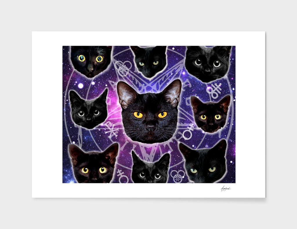 Satanic Cat Dark Gothic Black Kitty sat