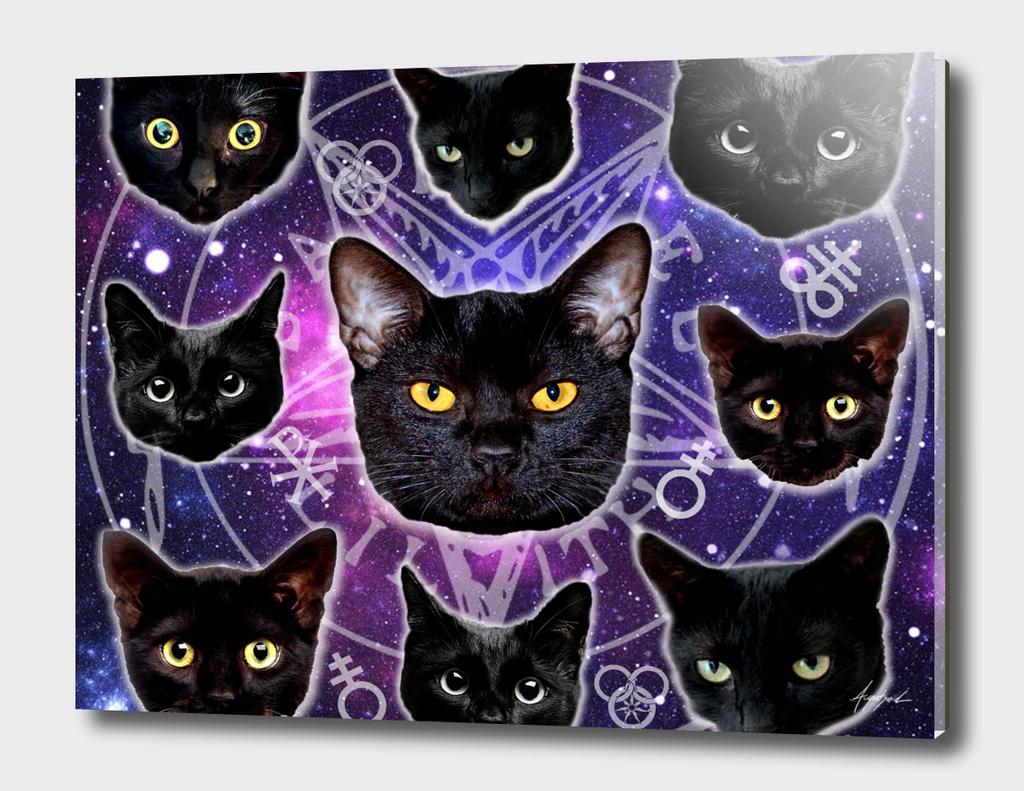 Satanic Cat Dark Gothic Black Kitty sat