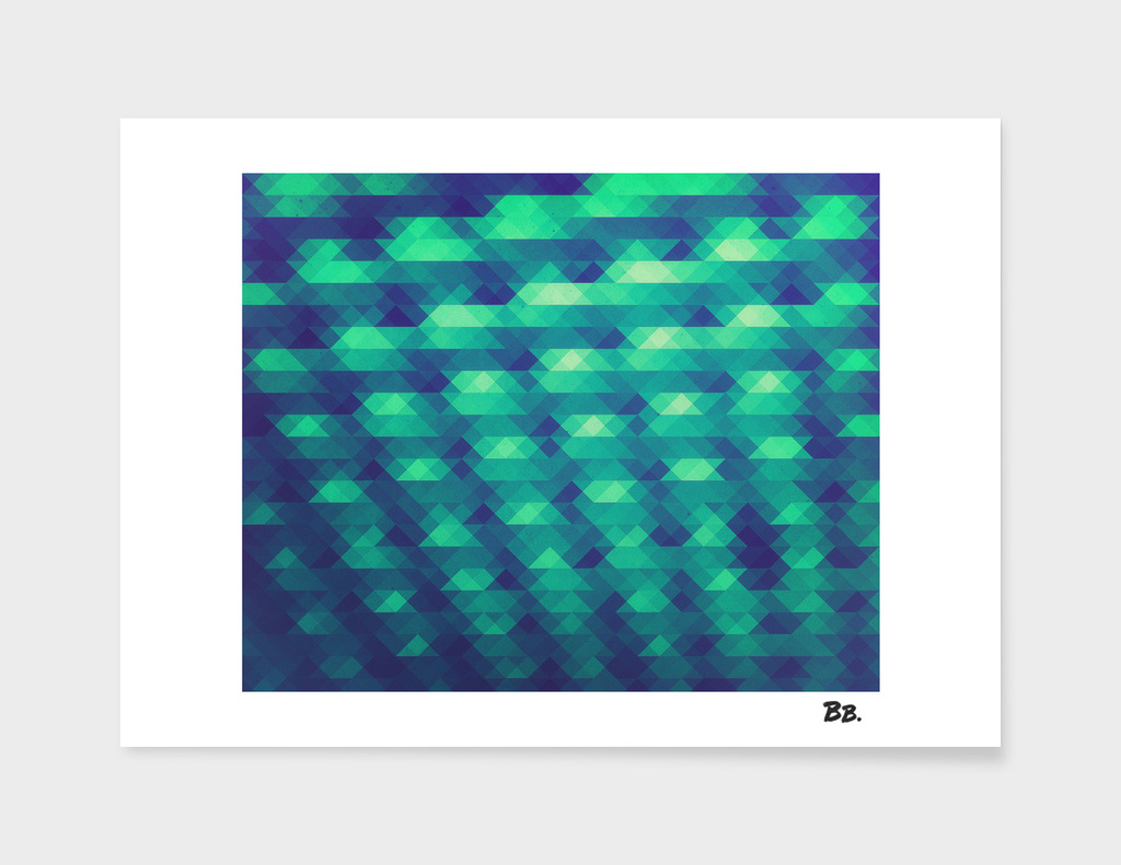 Modern Fashion Abstract Color Pattern in Blue / Green