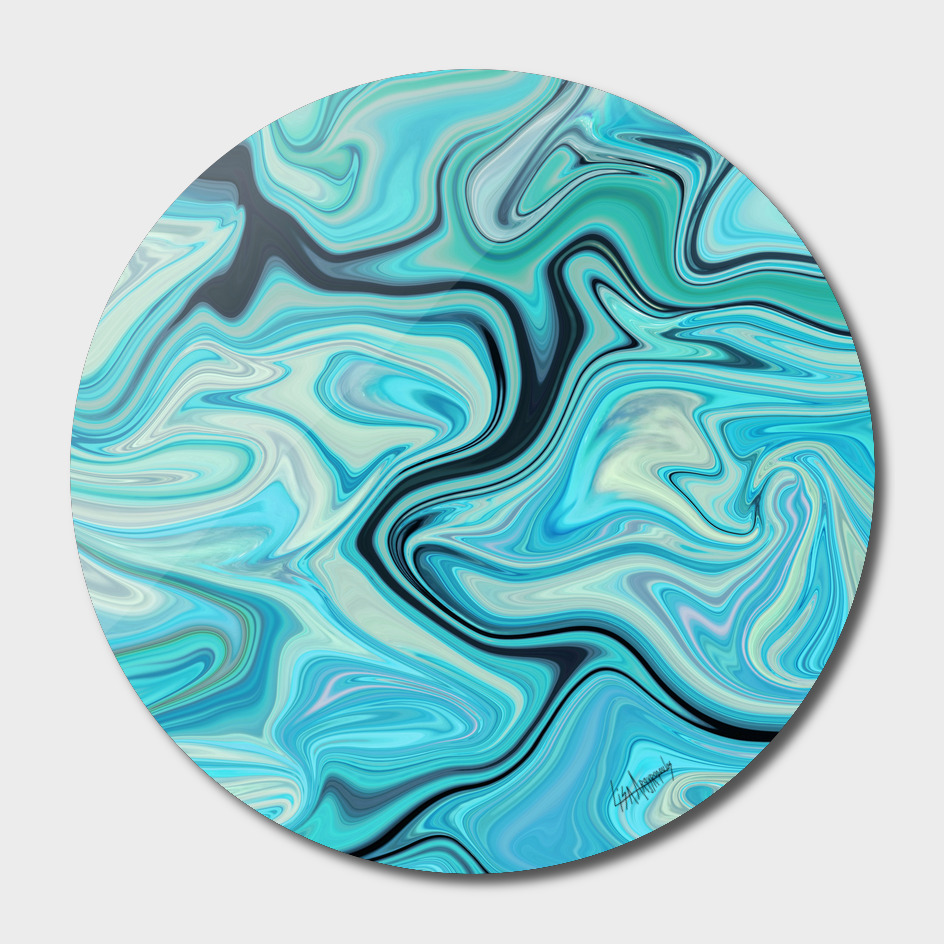 Marbled Frenzy Turquoise