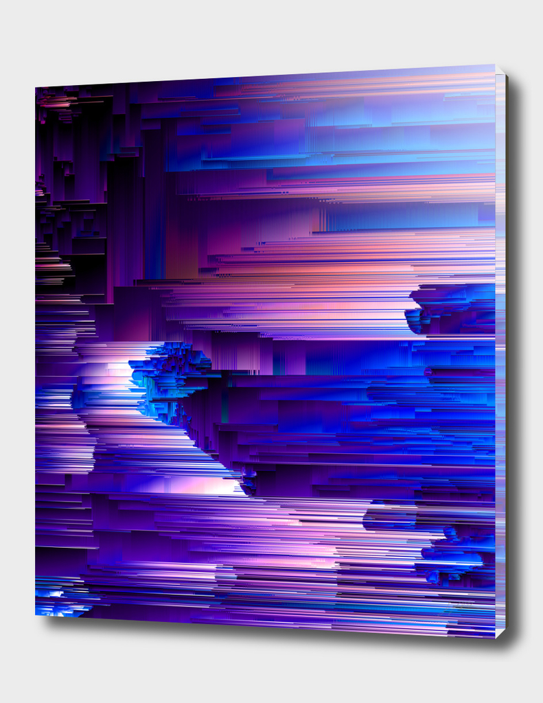 Glitchin' Blues - Abstract Pixel Art