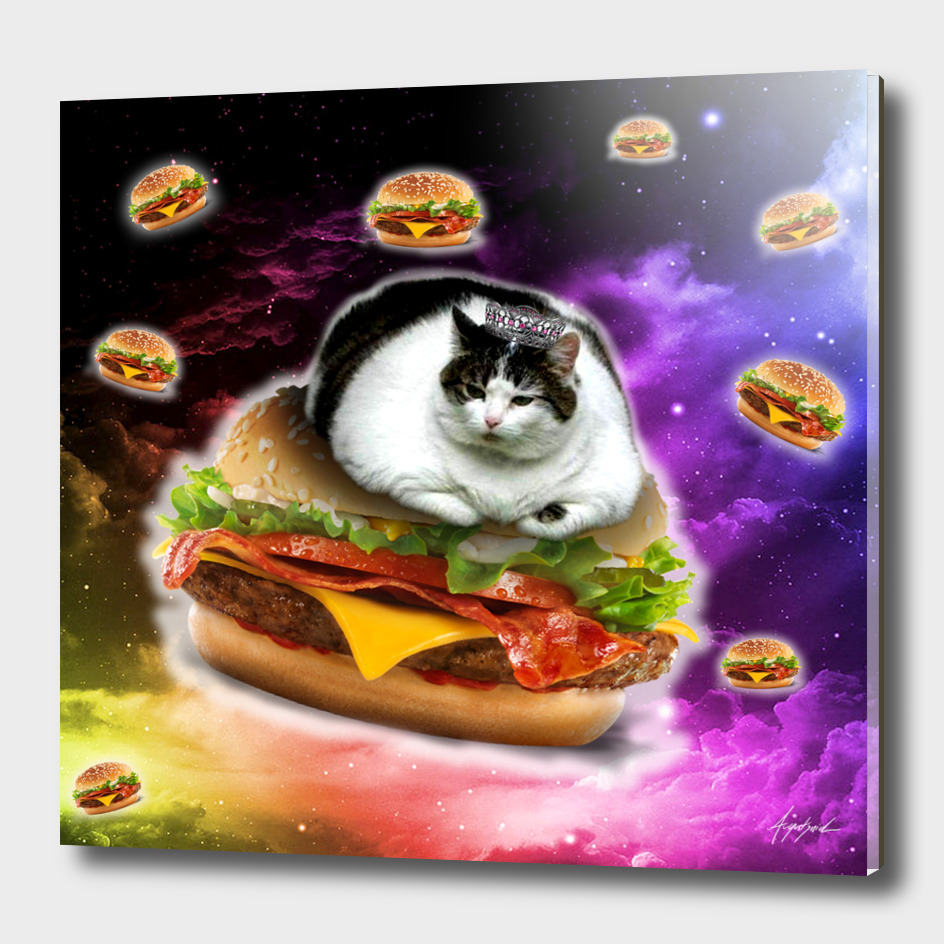 hamburger cat king spece cosmos pornfood food fast