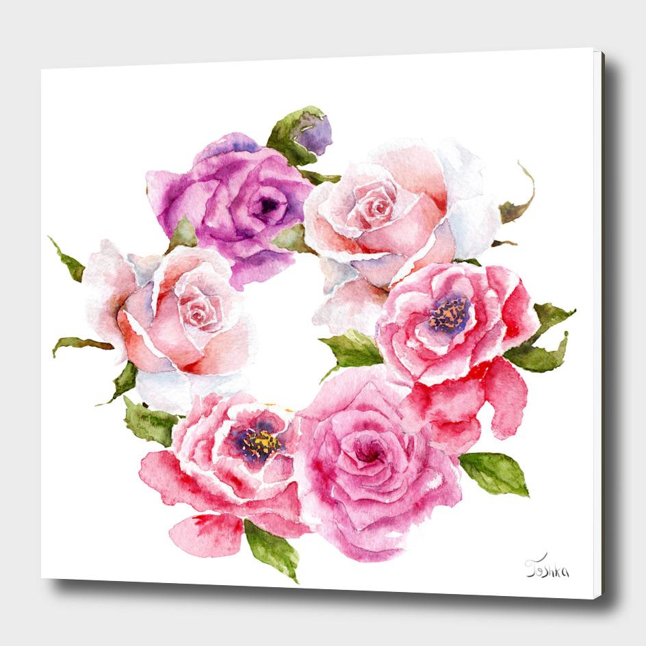logo wreath of flowers