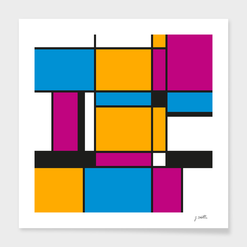 Tribute to Mondrian No3, abstract design