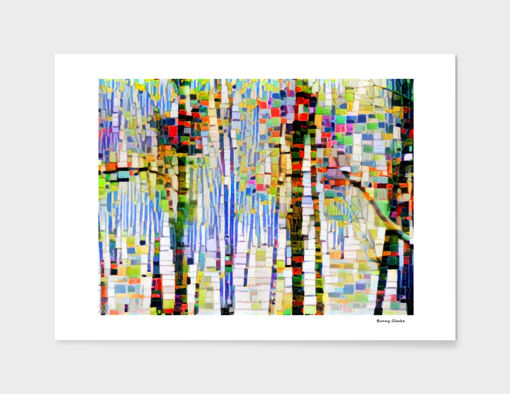 Winter Woods Abstract