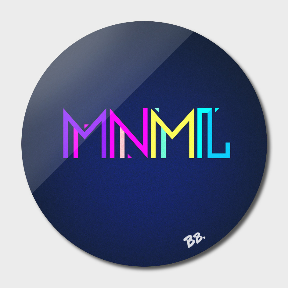 Minimal Type (Colorful Edm) Typography - Design