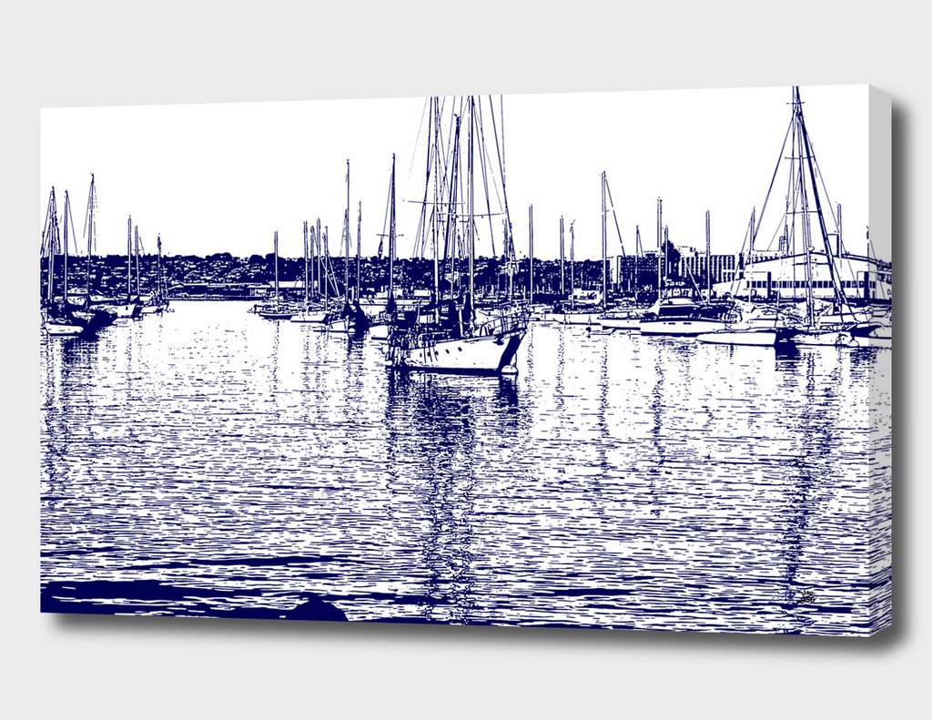 Grayscale Harbor