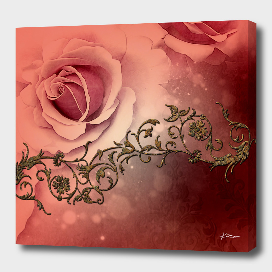Wonderful roses and floral elements