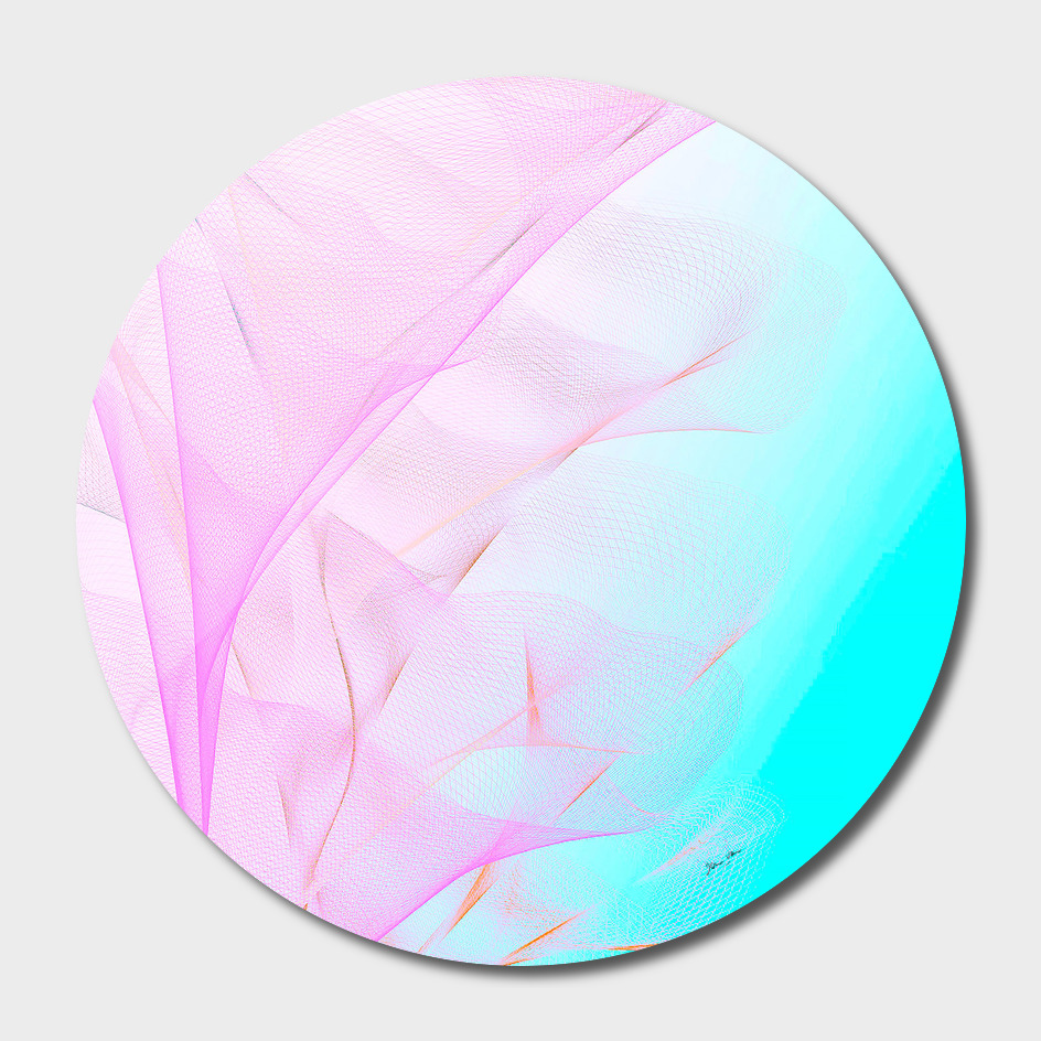 a7a2ed07eb32 Dreamy Pastel Motion Vibes - Pink   Turquoise» Disk by Dominique ...