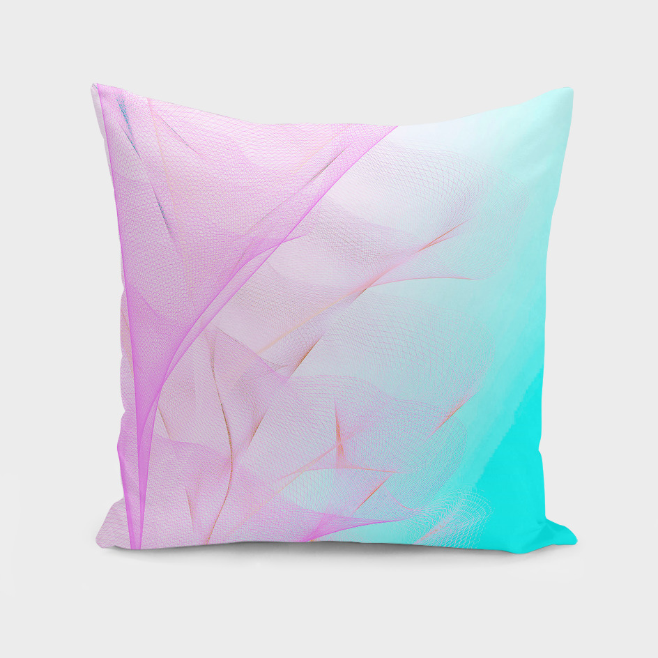 Dreamy Pastel Motion Vibes - Pink & Turquoise