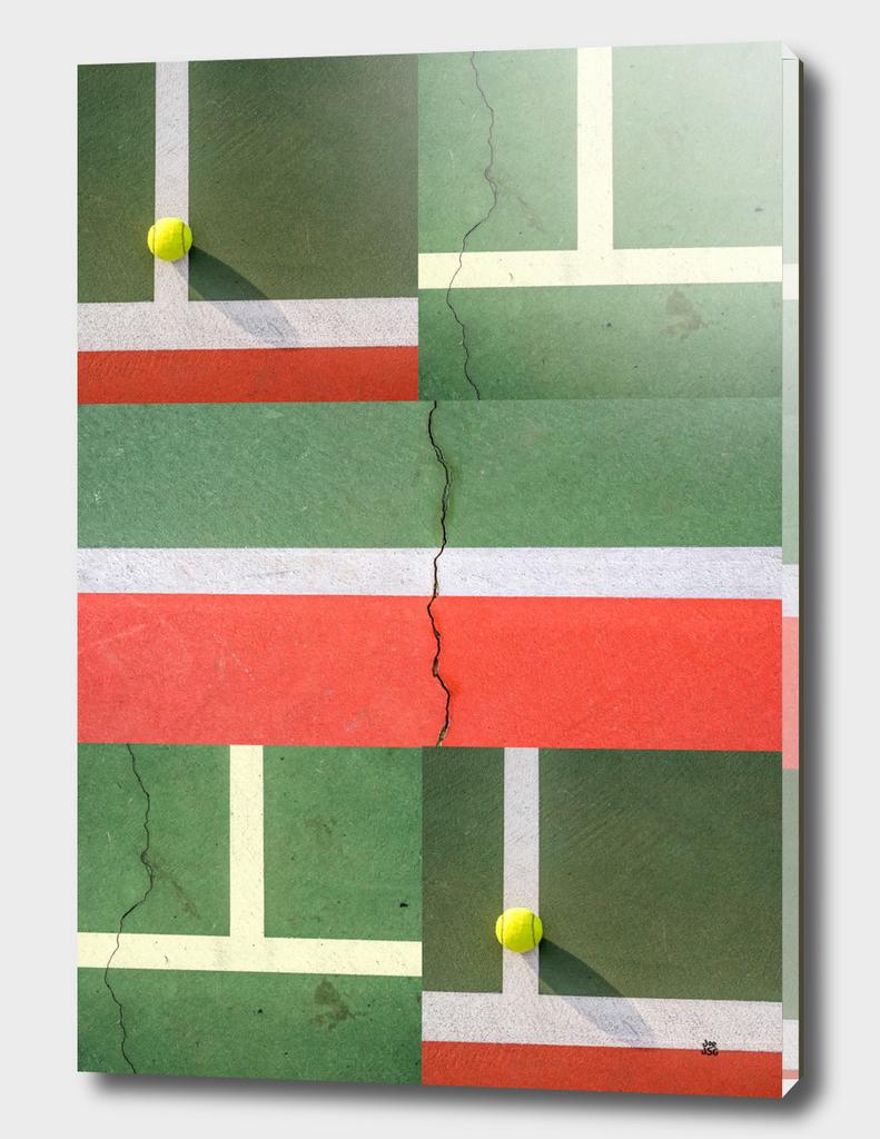Tennis Court  Collage