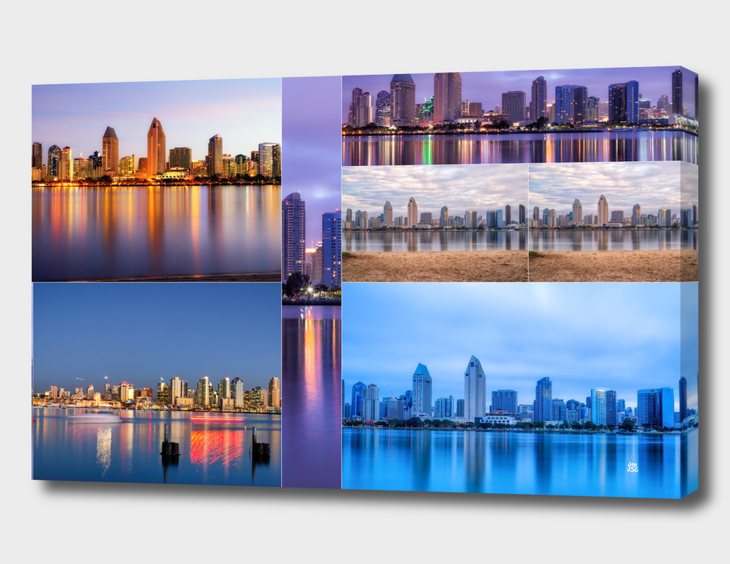 Skyline Reflections Collage