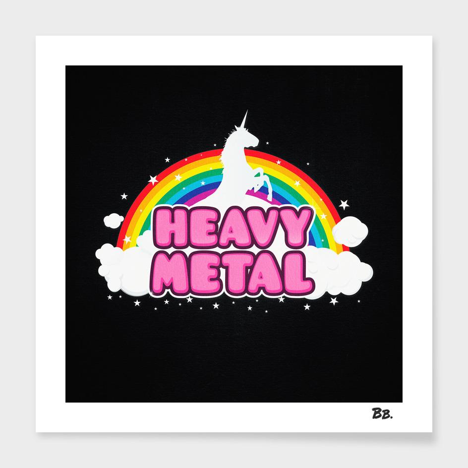 HEAVY METAL! (Funny Unicorn / Rainbow Mosh Parody Design)