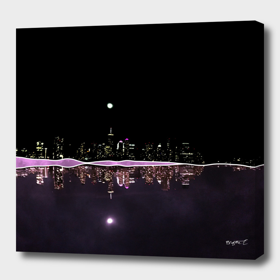 Moonlight In The City Skyline Design