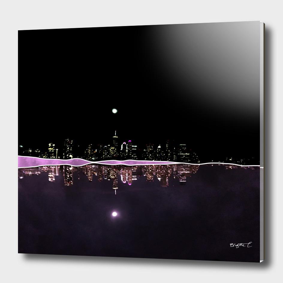 Moonlight In The City Skyline Design
